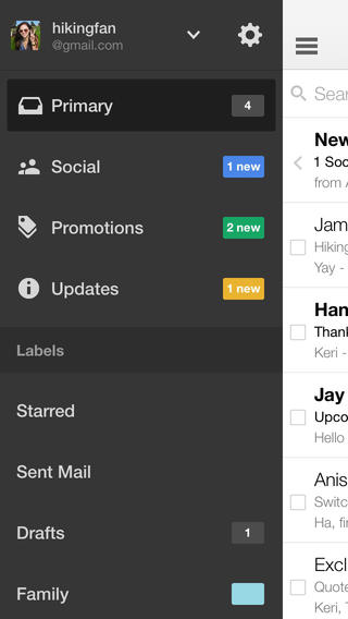 Gmails iOS-app